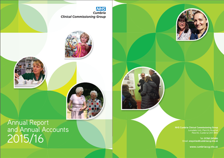 CCG Annual Report 2015-2016 front cover